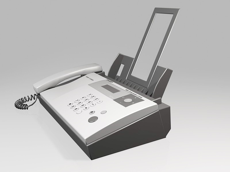 Sharp Fax Machine 3d rendering