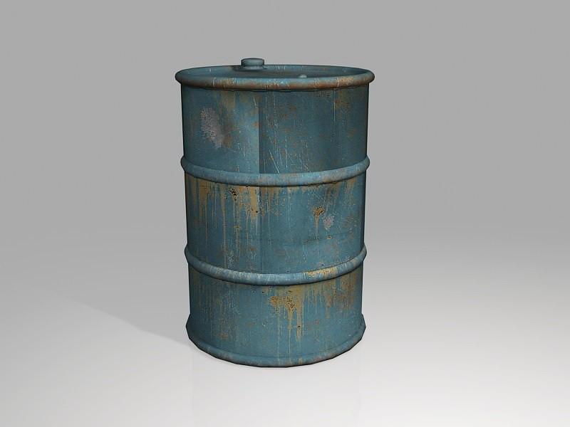 Old Fuel Barrel 3d rendering