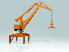 Level Luffing Crane 3d preview