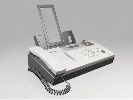 Sharp Fax Machine 3d preview