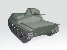 WW2 American T30 Heavy Tank 3d preview