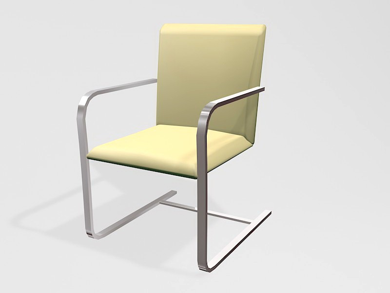 Cantilever Office Chair 3d rendering