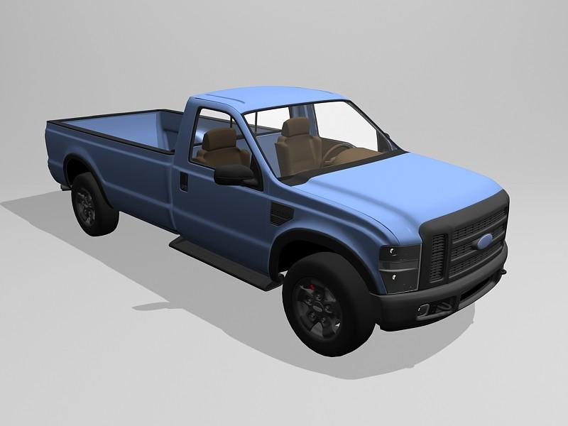 Ford F250 Regular Cab 4X4 3d rendering
