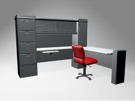 Home Office Computer Desk 3d model preview