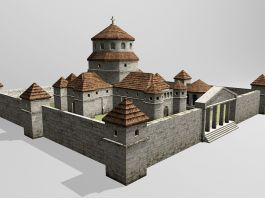 Middle Ages Cathedral 3d model preview