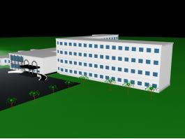 Modern Factory Office Buildings 3d preview