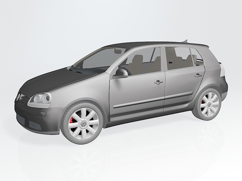 Volkswagen Golf Mk5 3d rendering