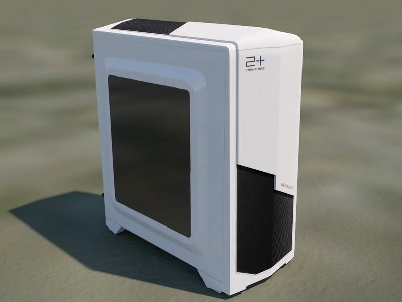 Cool Computer Case 3d rendering