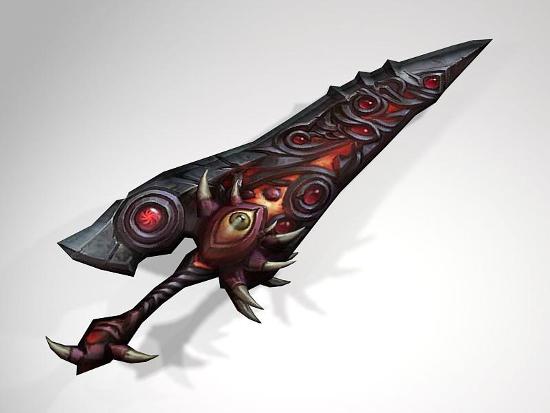 Red Eyes Dagger 3d rendering