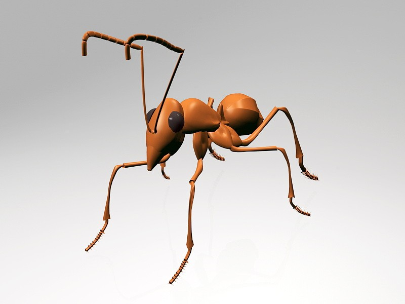 Big Red Ant 3d rendering