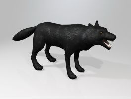 Scary Black Wolf 3d preview