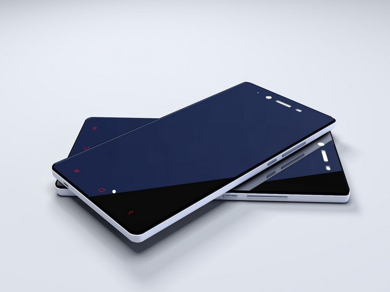 Redmi Note 2 Android Smartphone 3d rendering