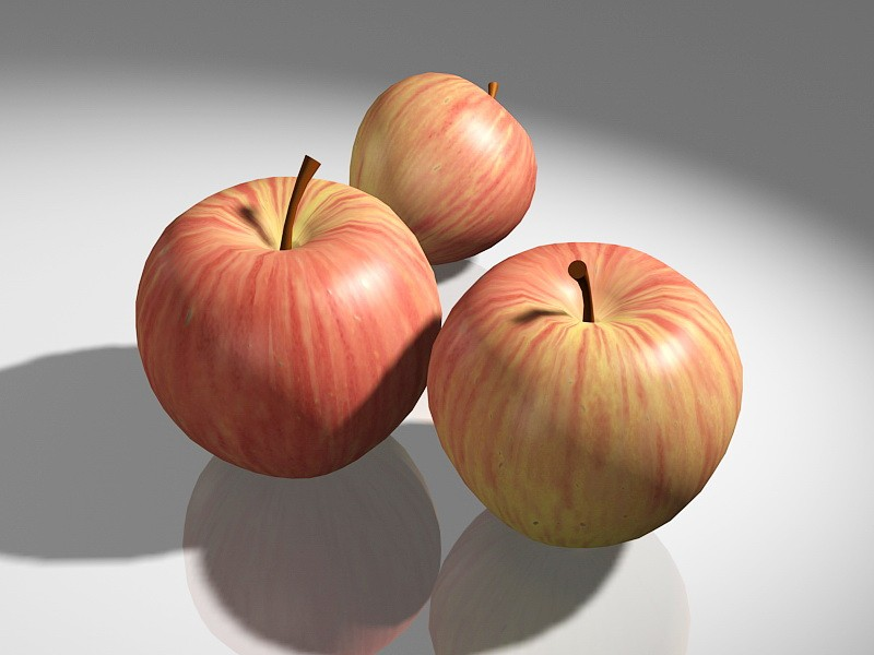 Organic Honeycrisp Apples 3d rendering