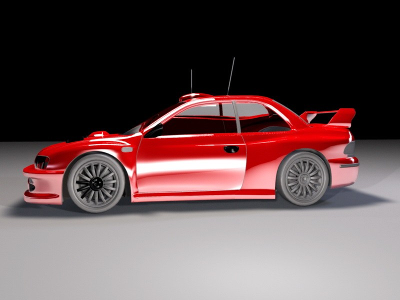Red Race Car 3d rendering
