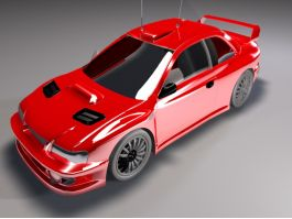 Red Race Car 3d preview