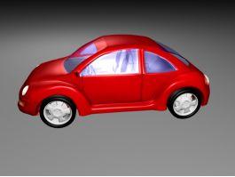 Volkswagen Beetle Red 3d preview