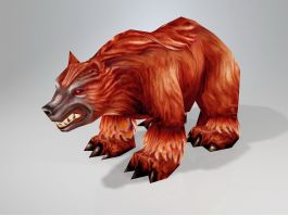 Low Poly Brown Bear 3d preview