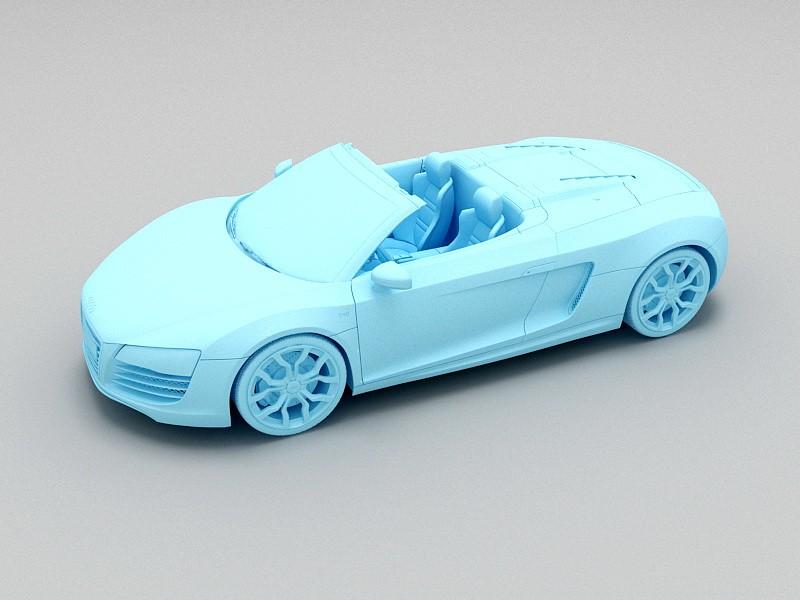 Audi R8 Roadster Convertible 3d rendering