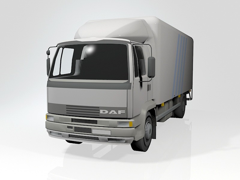 DAF Cargo Truck 3d rendering