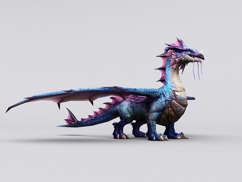 Blue Dragon Artwork 3d rendering