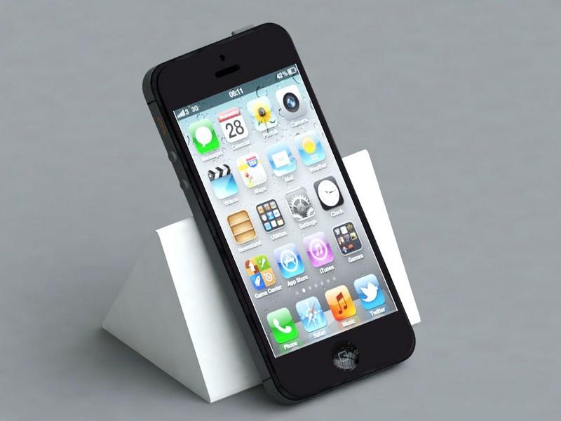 Apple iPhone 5 Black 3d rendering