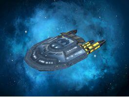 Sci-Fi Spaceship Shuttle 3d preview