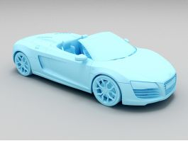 Audi R8 Roadster Convertible 3d preview