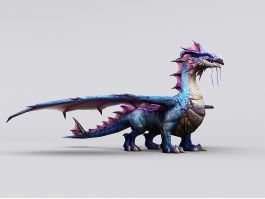 Blue Dragon Artwork 3d preview