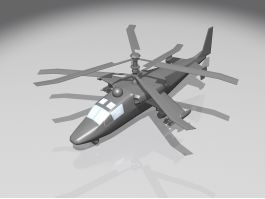 Ka-52 Alligator Attack Helicopter 3d preview