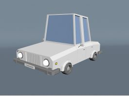 Low Poly Family Car 3d preview