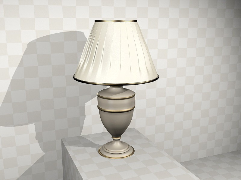 Decorative Table Lamp for Living Room 3d rendering