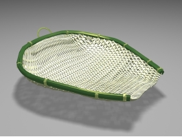 Bamboo Strainer Basket 3d preview