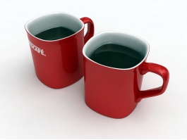 Nescafe Coffee Red Mugs 3d preview