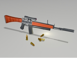 Tactical Rifle and Ammunition 3d preview