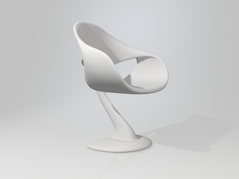White Whale Chair 3d rendering