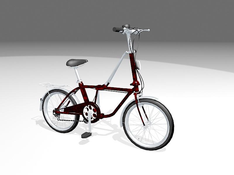 Boy's Bike 3d rendering