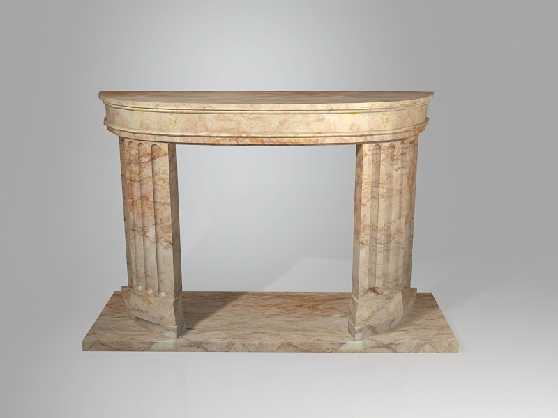 French Style Marble Fireplace Mantel 3d rendering