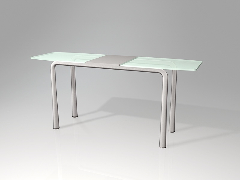 Rectangle Glass Dining Table 3d rendering