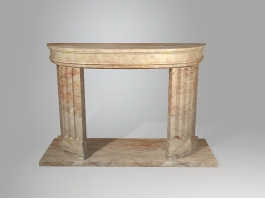 French Style Marble Fireplace Mantel 3d preview