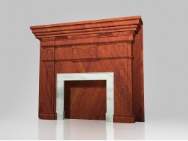Fireplace Mantel Surrounds Wood 3d preview