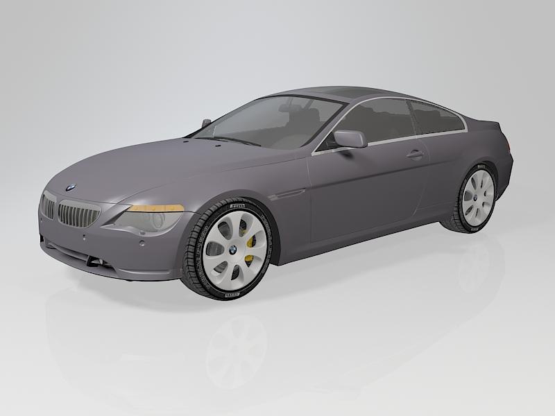 BMW 6 Series Sedan 3d rendering