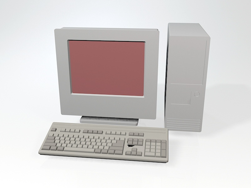 Old Personal Computer 3d rendering