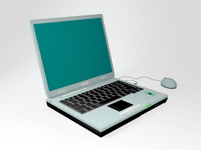 Old Asus Laptop 3d rendering