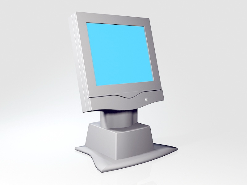 All-in-One Computer 3d rendering