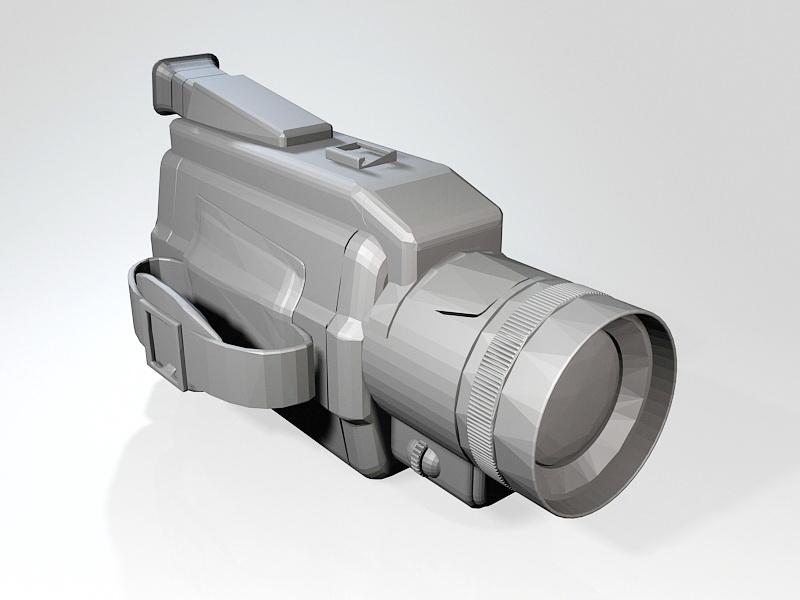 HD Video Camera 3d rendering