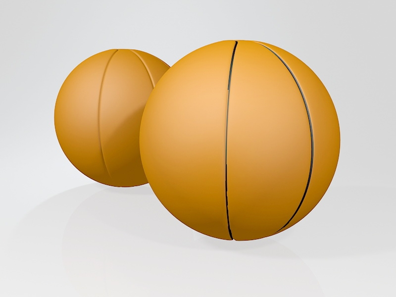 Leather Basketball 3d rendering