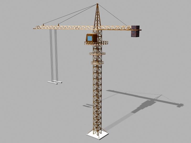 Tower Crane Lifting 3d rendering