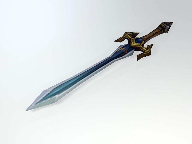 Elven Short Sword 3d rendering