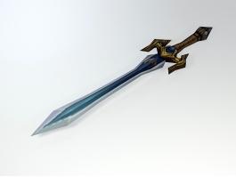 Elven Short Sword 3d preview