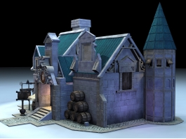 Medieval Tavern Outside 3d preview